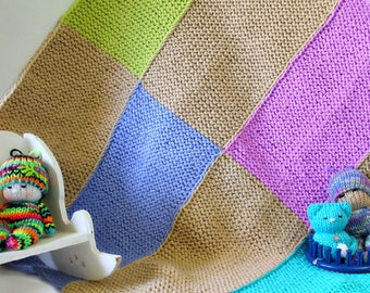 Loom Knitting PATTERNS Blanket Baby - Use small 24-peg loom -  Includes Video Tutorial by Loomahat