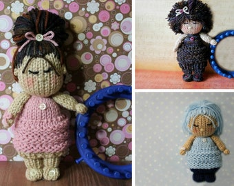 Loom Knitting PATTERNS Knit Dolls Toys Amigurumi  - The Cupcake Skirt Knit Doll Pattern Includes Video Tutorial by Loomahat