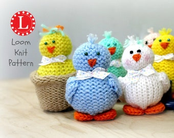 Loom Knitting PATTERNS Tiny Chicks Amigurumi Toys - Includes Video Tutorial by Loomahat