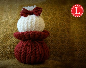 Loom Knitting PATTERNS Knit Dolls Toys Amigurumi  - The Ball Dolly Pattern Includes Video Tutorials by Loomahat