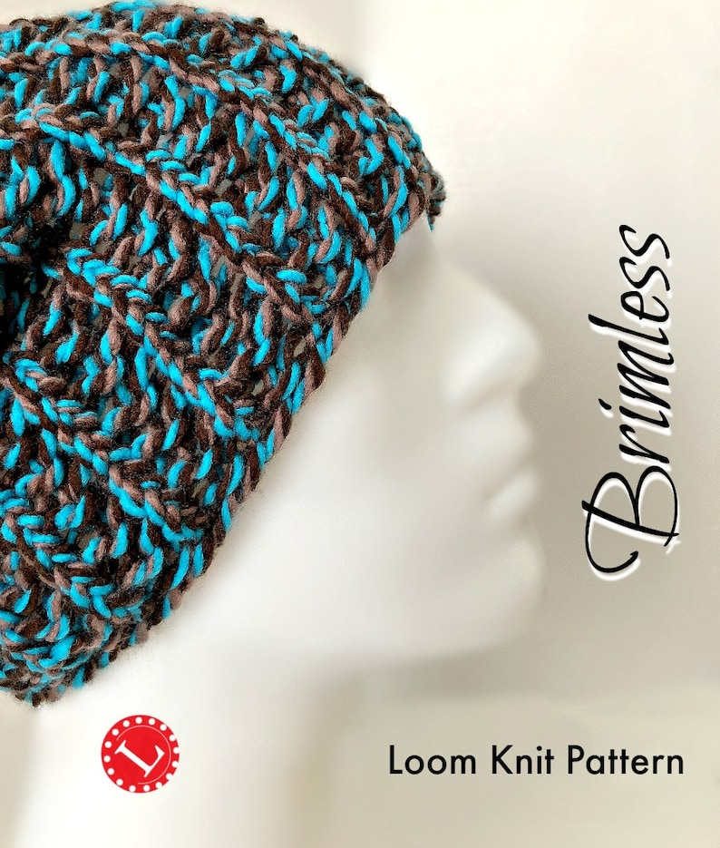 Loom Knitting PATTERNS Hat Slouchy Beanie for Men or Women  48270a2997