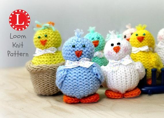 Loom Knitting Patterns Tiny Chicks Amigurumi Toys Includes Etsy
