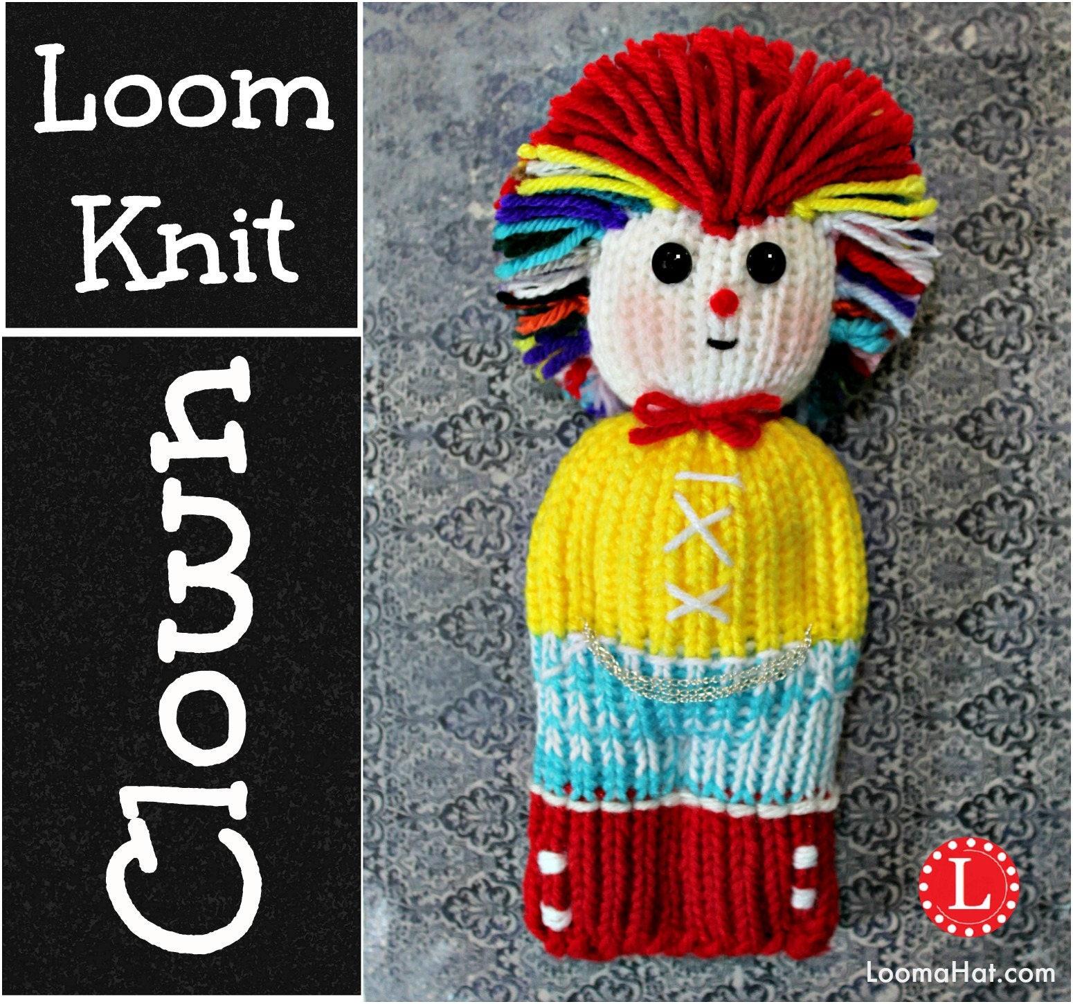 Loom Knitting Patterns Clown Comfort Doll Aka Izzy Duzuza Etsy