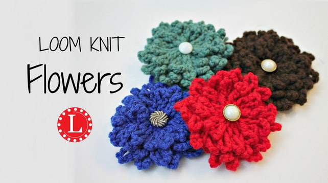 Loom Knitting Patterns For Flowers With Step By Step Video Etsy