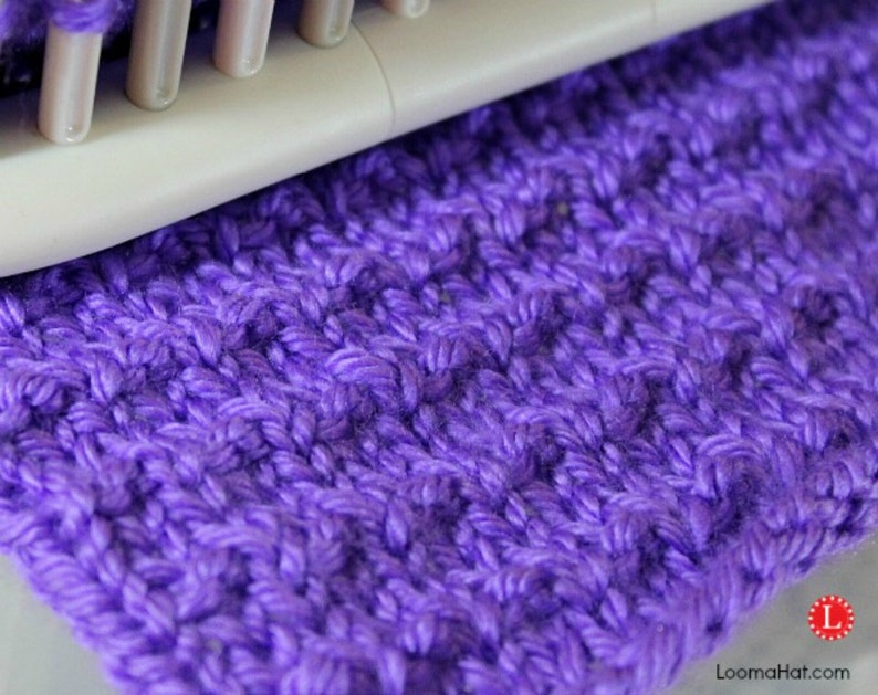 Loom Knit Stitch Pattern The Andalusian Stitch with Video Tutorial