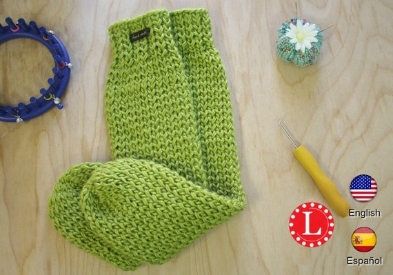 Loom Knitting Pattern Tube Socks With Video Tutorial By Etsy