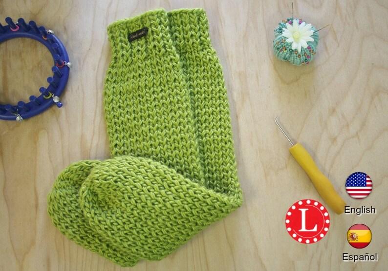 Loom Knitting Pattern Tube Socks With Video Tutorial By Etsy