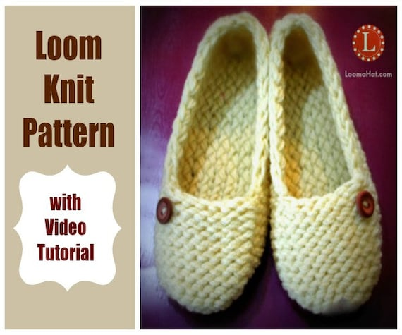Loom Knitting Patterns Ladies Slippers With Video Tutorial By Etsy