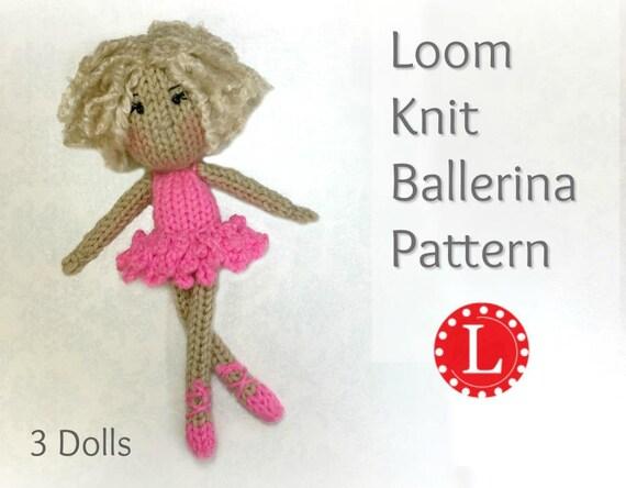 Loom Knitting Patterns Doll Toys Amigurumi Tiny Dolls Etsy