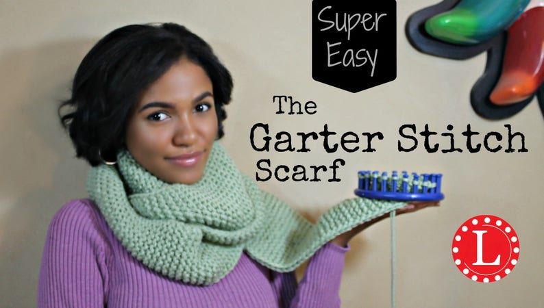 Loom Knit Patterns Scarf Beginner Easy With Step By Step Video Etsy