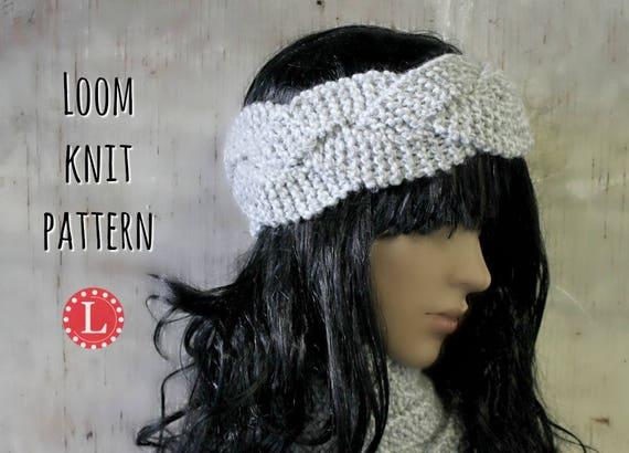 Loom Knitting Patterns Headband Ear Warmer Includes Video Etsy