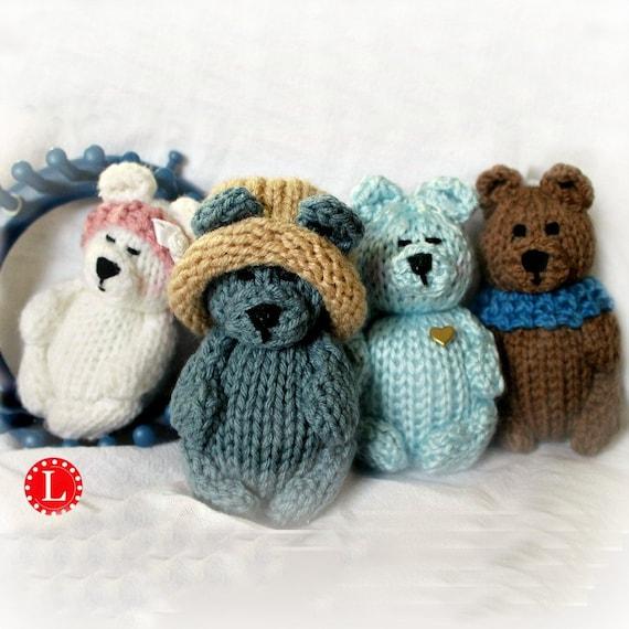Loom Knitting Patterns Loom Knit Teddy Bear Toys Doll Etsy