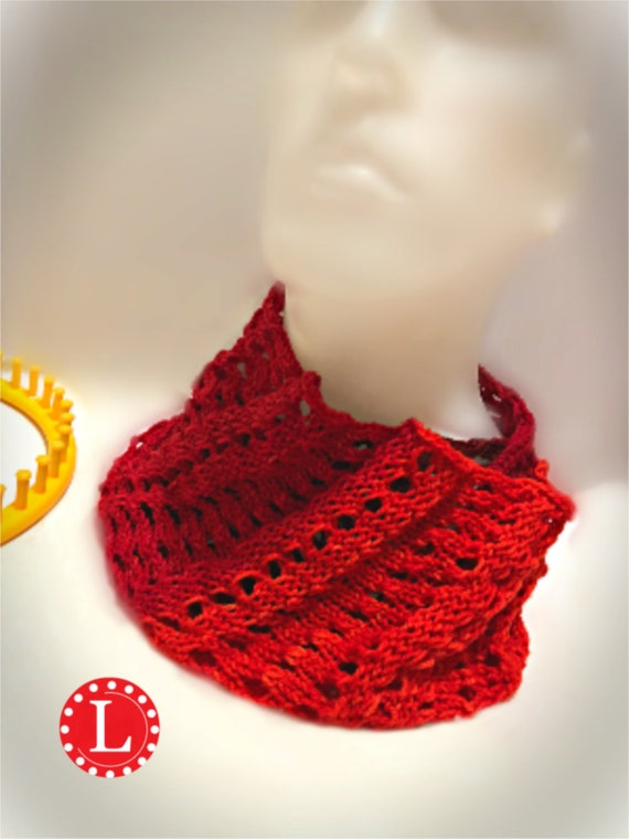 Loom Knitting Patterns Infinity Scarf With Link To Step By Etsy