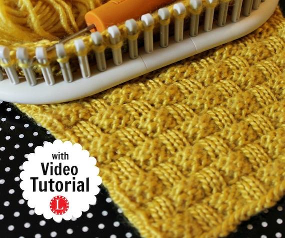 Loom Knitting Stitch Patterns The Basket Weave Stitch With Etsy