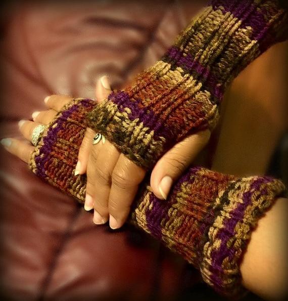 Loom Knitting Pattern Fingerless Gloves With Video Tutorial Etsy