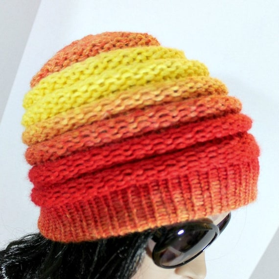 Loom Knitting Patterns Ombre Hat Beanie Pattern For Extra Etsy