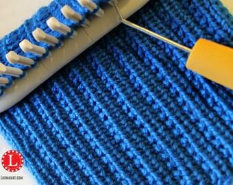 Loom Knit Stitch Pattern The Farrow Rib Stitch with Video Tutorial Beginner Easy