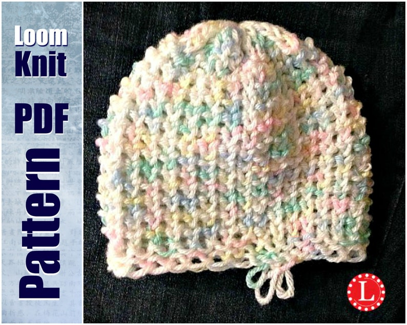 Loom Knit Baby Hat Tiny Heart Stitch PATTERN with Video   Etsy