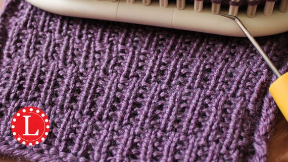 Loom Knitting Patterns Rambler Stitch With Video Tutorial By Etsy