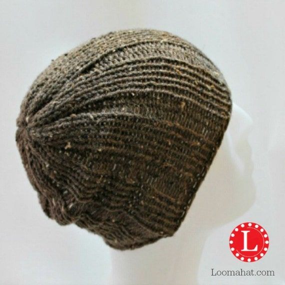 Loom Knitting Pattern Hat Mens Womens Slouchy Beanie Skull Cap Etsy