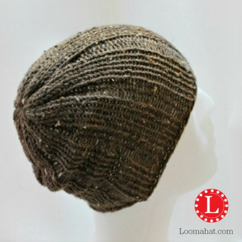 ac795b46056 Loom Knitting Pattern Hat Mens Womens Slouchy Beanie Skull Cap