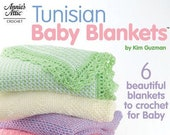 Tunisian Baby Blankets OOP Unused, by Kim Guzman