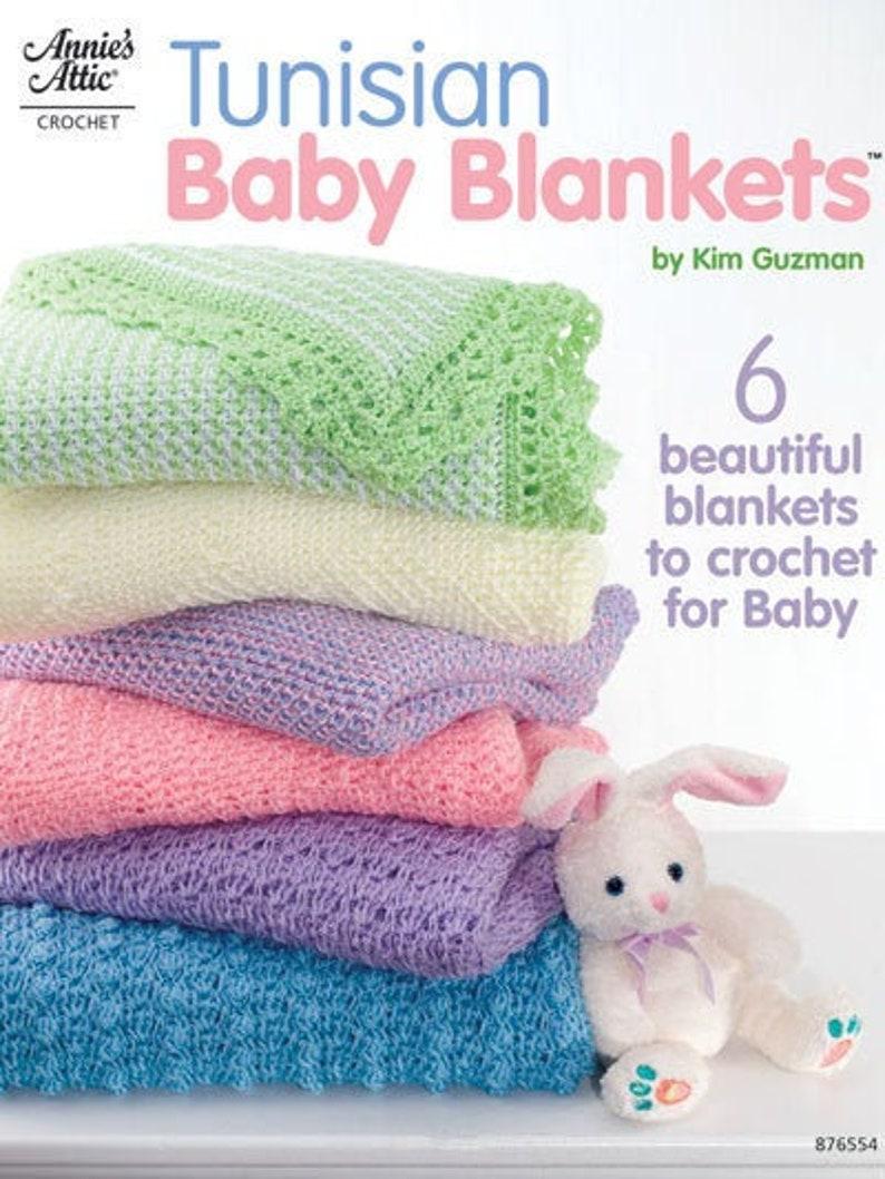 Tunisian Baby Blankets OOP Unused by Kim Guzman image 0