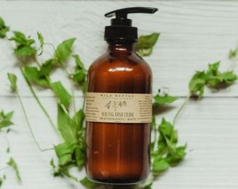 HEALING HAND CREAM - herbal lotion - botanicals - plant magic - all purpose lotion - acne face cream