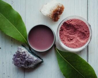 HIBISCUS - lip balm - cheek tint - botanical makeup - all natural