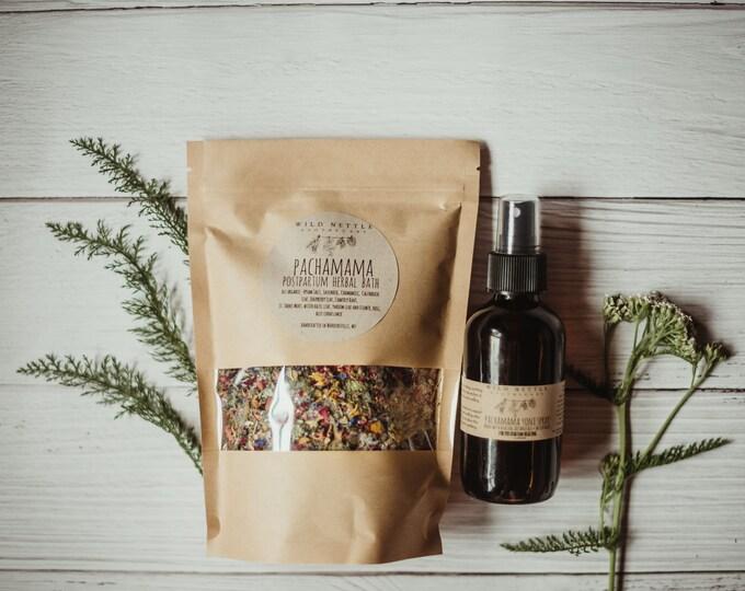 PACHAMAMA POSTPARTUM CARE - herbal sitz bath - yoni spray - all natural - organic - healing