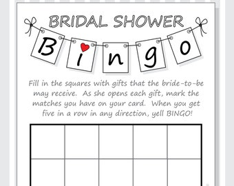 diy bridal shower bingo printable cards pennant design red purple hearts