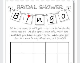 Printable bridal shower bingo cards calendar june.