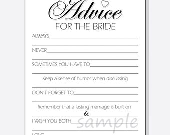 advice for bride etsy