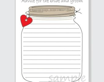 graphic about Mason Jar Printable identified as Mason jar playing cards Etsy