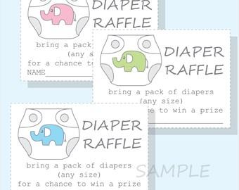 diy diaper raffle tickets for a boy girl or gender neutral baby shower printable diaper design