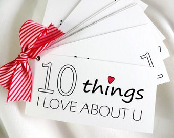 DIY 10 Things I Love About You Booklet - Printable
