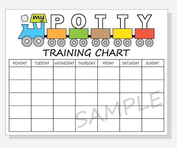 Printable Potty Training Chart: DIY Printable Potty Training Chart Train Design For Boy