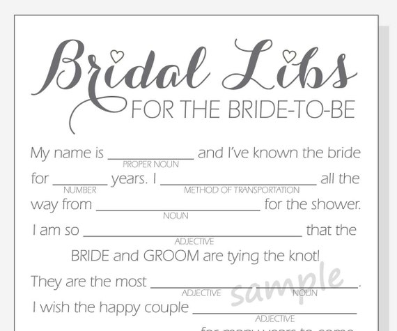 picture relating to Bridal Shower Mad Libs Printable identify Do-it-yourself Bridal Shower Crazy Libs Match - Printable Playing cards - apparent, crimson, crimson and crimson hearts - Calligraphy