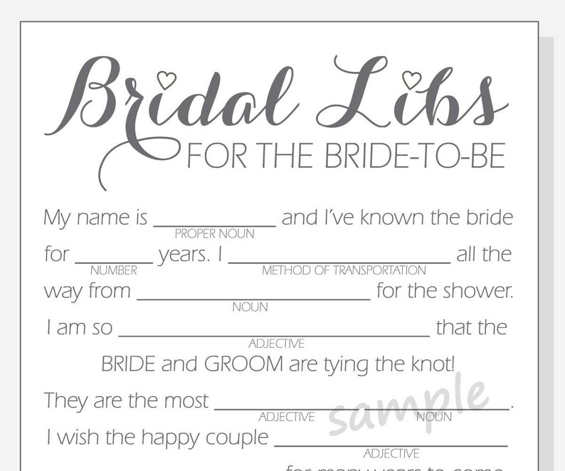 photo regarding Bridal Shower Mad Libs Free Printable named Do-it-yourself Bridal Shower Nuts Libs Recreation - Printable Playing cards - apparent, pink, crimson and red hearts - Calligraphy