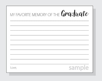 DIY My Favorite Memory of the Graduate for a Graduation Party