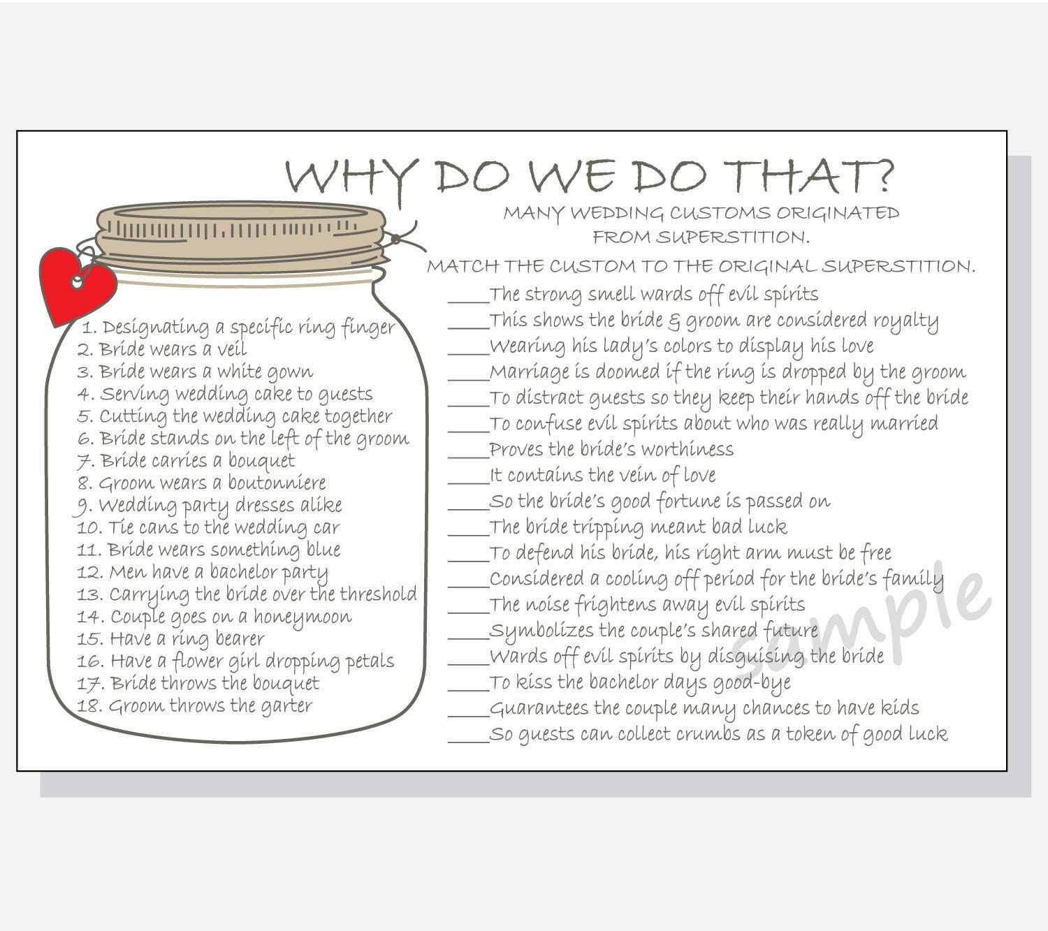 why do we do that printable cards bridal shower game diy rustic mason jar design red purple pink yellow hearts with answer key