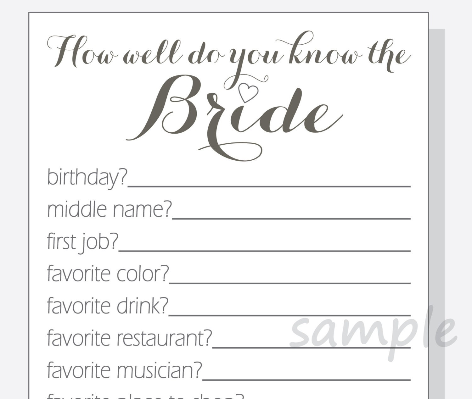 Nerdy image with how well do you know the bride free printable