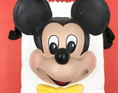 Mickey Mouse Ceramic Gift Bag Floral Container Unique 3D Mickey Face