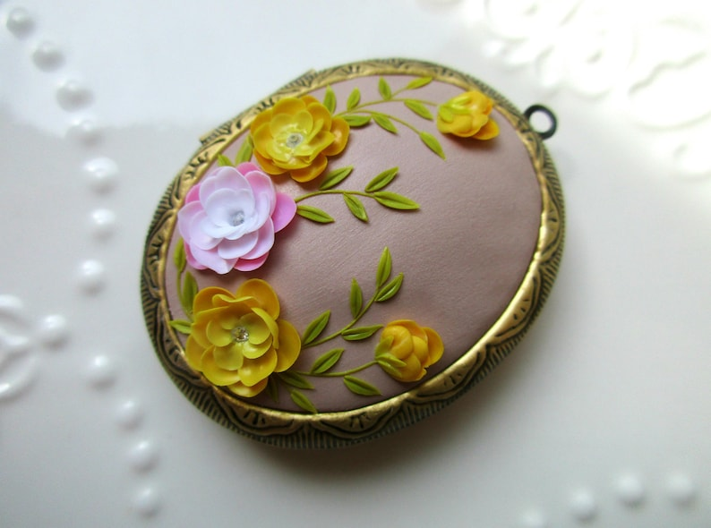 Floral Locket Christmas Gift Jewelry Gift for Mother Wife Gift Gift for Girlfrend Gift Idea Wife Jewelry Idea Gift for Wife Gift for Mom