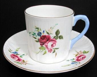 Shelley Dainty Debonair Coffee Cup & Saucer c1960's