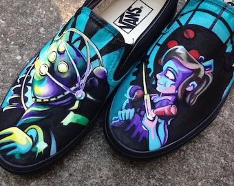 05dc6f5b64d86d Painted Shoes Made to Order- Video Game Inspired Vans. Video game- Comic -  Anime - Painted shoes - Tread Loudly!