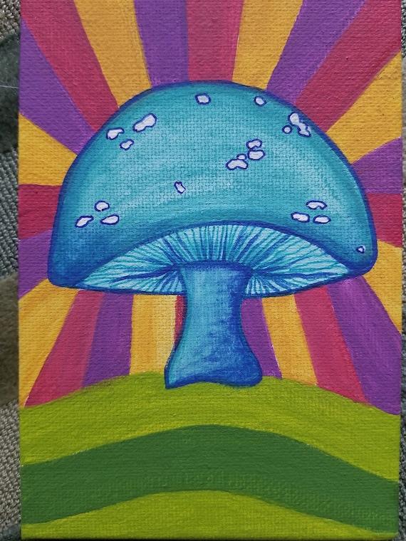 Colorful Mushrooms Purse Hanger