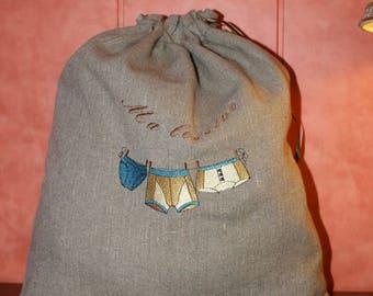 Linen bag dirty linen