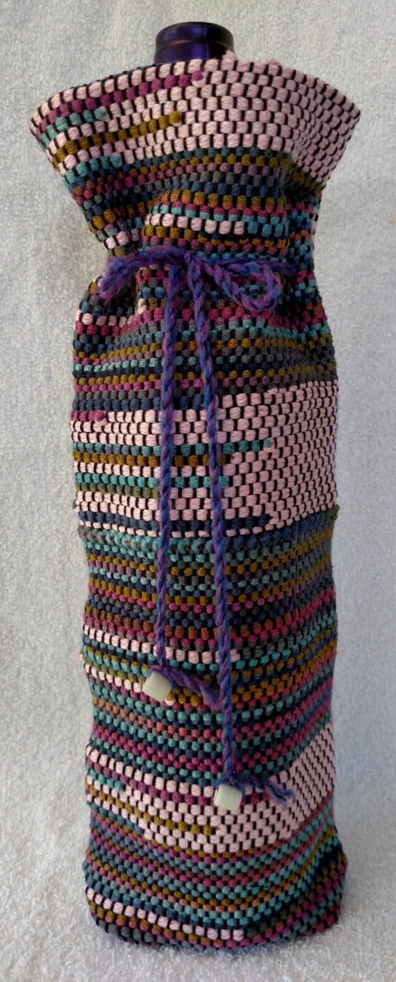 #15W25 Pink Mountain Jewel Wine Bottle Bag