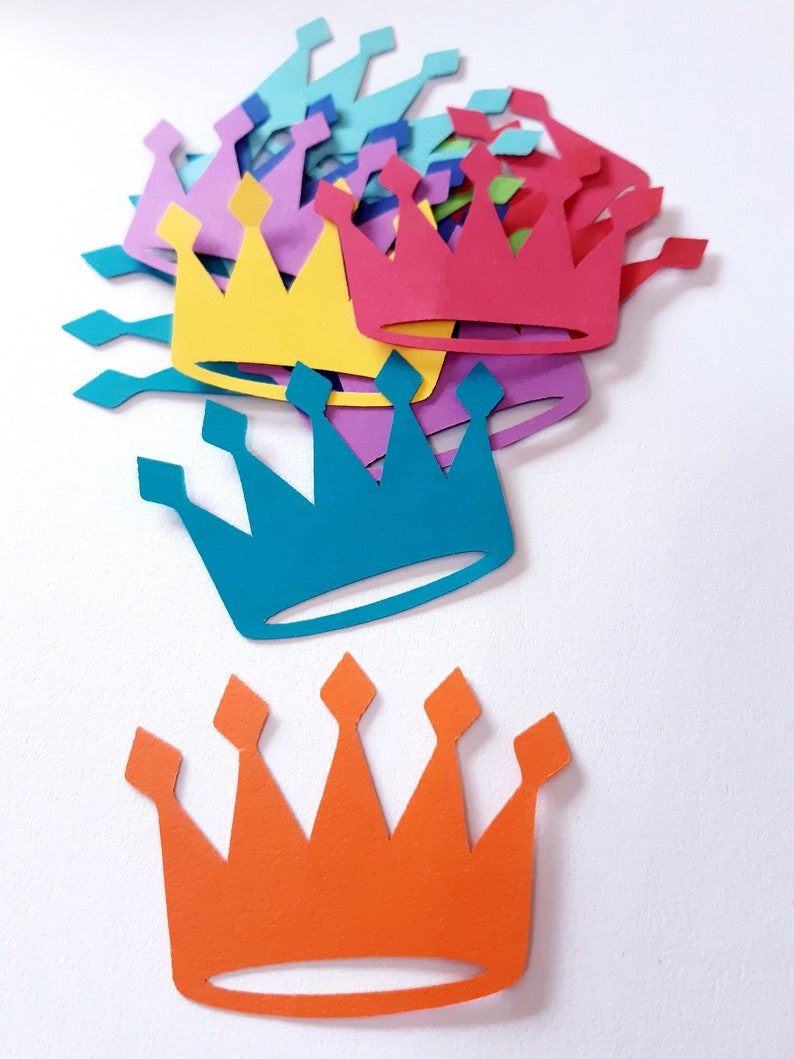 King / Queen / Princess / Prince Crown Die Cut Out Party ...